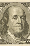 Ben Franklin Close-up. A close-up shot of Ben Franklin on a one dollar bill Royalty Free Stock Photography