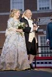 Ben Franklin och Betsy Ross skådespelarear Royaltyfria Foton