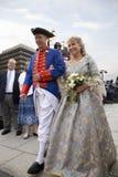Ben Franklin och Betsy Ross skådespelarear Fotografering för Bildbyråer