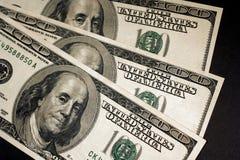 Ben Franklin op Honderd Stock Afbeelding