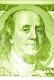 Ben Franklin sulla fattura $100 Fotografie Stock Libere da Diritti