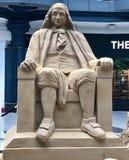 Ben Franklin in Zand Royalty-vrije Stock Foto's