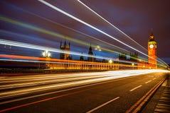 Ben grande e casas do parlamento no crepúsculo imagens de stock