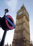 Ben grande em Londres, Inglaterra Imagem de Stock