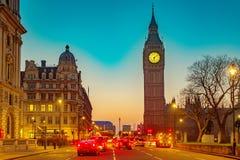 Ben grande em Londres na noite Fotografia de Stock