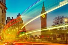 Ben grande em Londres na noite Imagens de Stock
