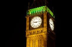 Ben grande, Londres en la noche Foto de archivo