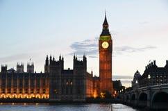 Ben grande y casas del parlamento Foto de archivo
