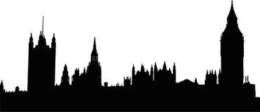 Ben grande y casas del parlamento en Londres Imagen de archivo