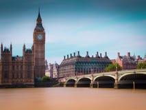 Ben grande y puente de Westminster Foto de archivo libre de regalías