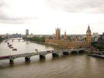 Ben grande y río de Thames Foto de archivo