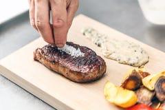 ben grillad steak t Royaltyfri Bild