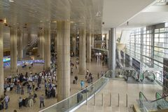 Ben Gurion Airport Arrival Hall, Israel Royalty Free Stock Images