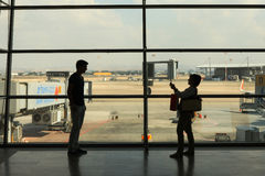 Ben Gurion airport main terminal Royalty Free Stock Image