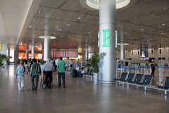 Ben Gurion airport in Tel Aviv Royalty Free Stock Photo