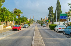 Ben Gurion Boulevard Arkivfoto