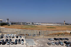 Ben Gurion International Airport. In Tel Aviv, Israel,  one of the best safety and tight security in the industry of the world Stock Images