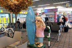 Ben Gurion ` s rzeźba w pierwszy terminal Ben Gurion Airpo Obrazy Stock