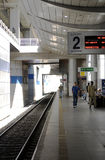 Ben Gurion Train Station, Platform 2 Royalty Free Stock Images