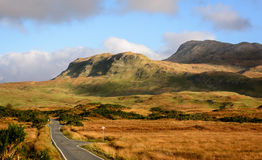 Ben Hiant Ardnamurchan Scotland. The volcanic bumps and ridges of Beinn (Ben) Haint on the Ardnamurchan peninsula, highlands of Scotland Royalty Free Stock Image