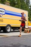 Ben Hoffman, evento running de Alene Ironman do d de Coeur Foto de Stock
