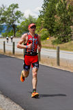Ben Hoffman, laufendes Ereignis Coeur-d Alene Ironman Lizenzfreie Stockfotos