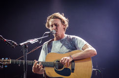 Ben Howard. Playing his guitar during a concert at Longitude Festival 2014 in Dublin, Ireland Stock Photos