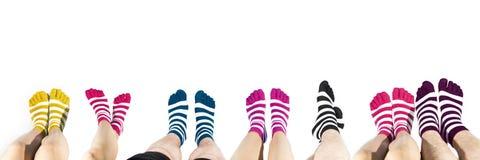 Ben i mode och moderna sockor Royaltyfri Fotografi