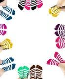 Ben i mode och moderna sockor Royaltyfria Bilder