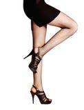 Ben i strumpor och skor Royaltyfria Foton