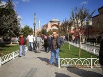 Ben Istanboel Laleli beyazıt Stock Foto's