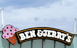 Ben and Jerry's. A Ben & Jerry's ice cream sign Royalty Free Stock Photos