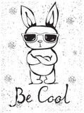 Ben koel konijn vector illustratie