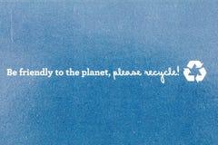 Ben kringloopkarton van de eco het vriendschappelijke planeet royalty-vrije stock afbeelding