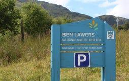 Ben Lawers Krajowy rezerwat przyrody, Szkocja zdjęcia royalty free