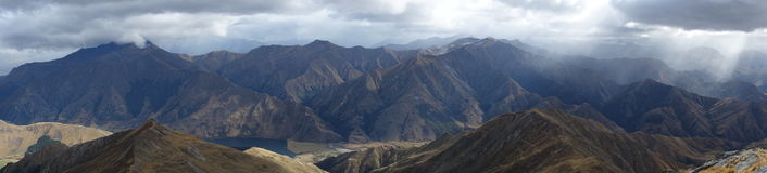 Ben Lemond panorama. Southern Alps panorama from Ben Lomond Track Queenstown New Zealand Stock Image