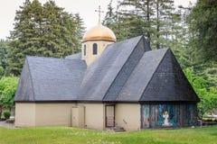 Ben Lomond, Califórnia - 24 de maio de 2018: Exterior de Saint Peter e Paul Antiochian Orthodox Church Imagens de Stock