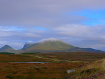 Ben Loyal. In Scotland playing at catching clouds in the county of Sutherland Stock Photography
