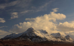 Ben Loyal mountain covered with snow Royalty Free Stock Images
