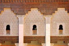 ben madrasa marrakesh morocco youssef Royaltyfria Foton