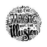 Ben magisch niet de illusie stock illustratie