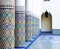 ben marrakech medrassa youssef Arkivbild