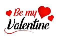 Ben mijn bericht van de Valentijnskaart Stock Foto