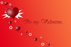Ben mijn Valentijnskaart Royalty-vrije Stock Foto's