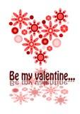 Ben mijn valentijnskaart Stock Afbeelding