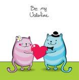 Ben mijn valentijnskaart Stock Foto