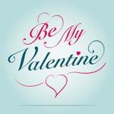 Ben mijn valentijnskaart Stock Foto's