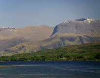 Ben Nevis, Carn Mor Dearg, Loch Eil, Scotland, UK. Ben Nevis is the highest mountain in the British Isles - 1,344 metres (4,406 ft) above sea level and is Stock Image