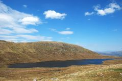 Ben Nevis Lake in Schotland royalty-vrije stock fotografie