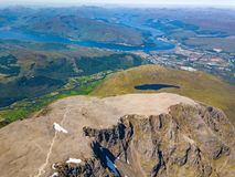 Ben Nevis located near Fort William, Scotland. stock image